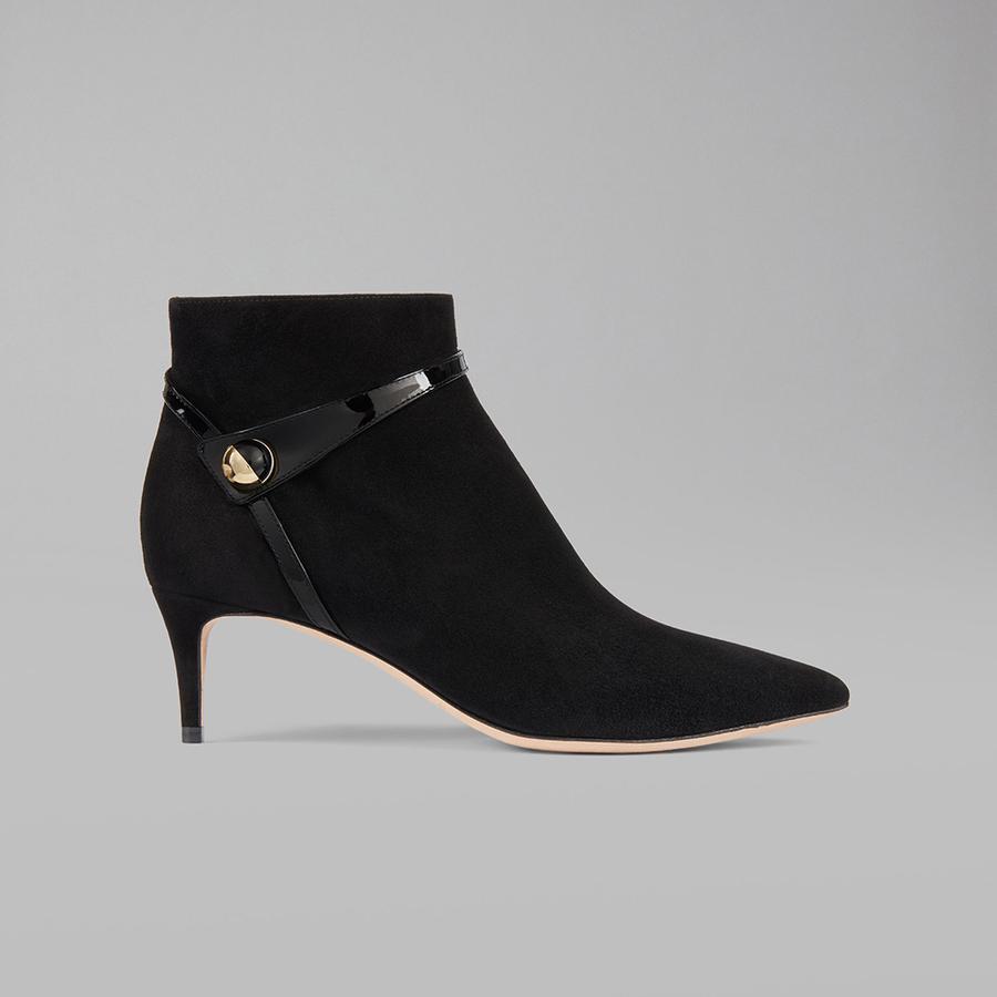 Les chaussures de la rentrée 2018 - Giorgio Armani KITTEN HEELS - Bottines en cuir de chèvre, Giorgio Armani