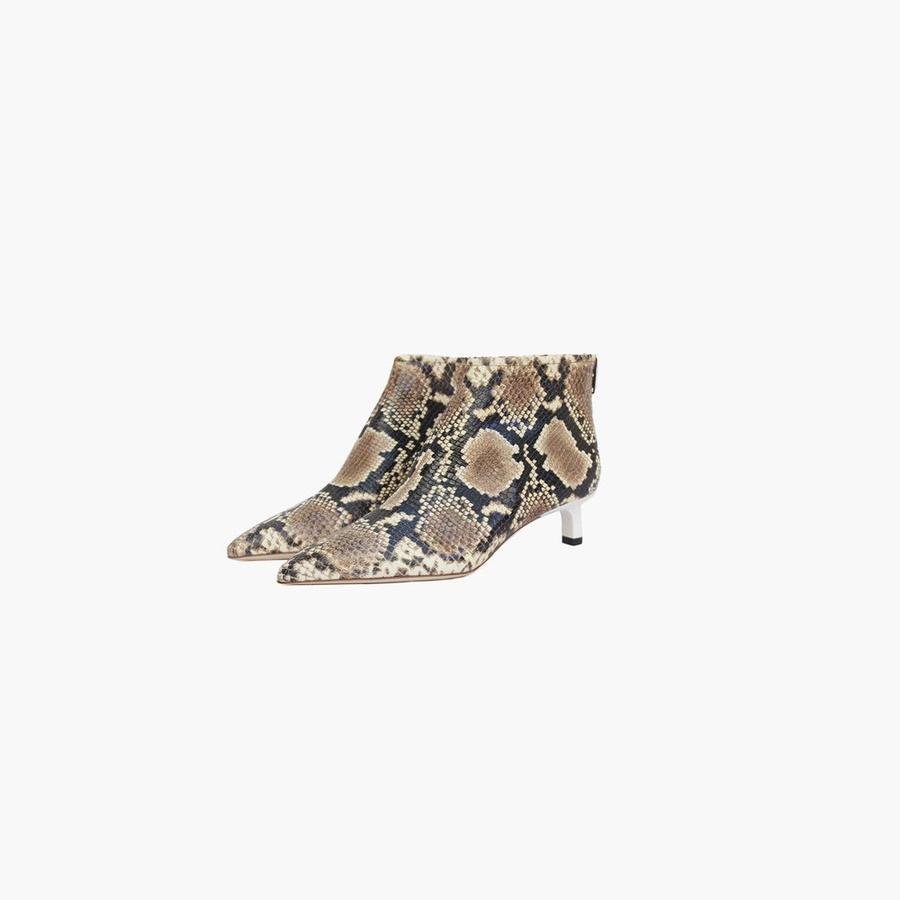 Les chaussures de la rentrée 2018 - Rejina Pyo Bottines Marta à petits talons en cuir effet python, Rejina Pyo