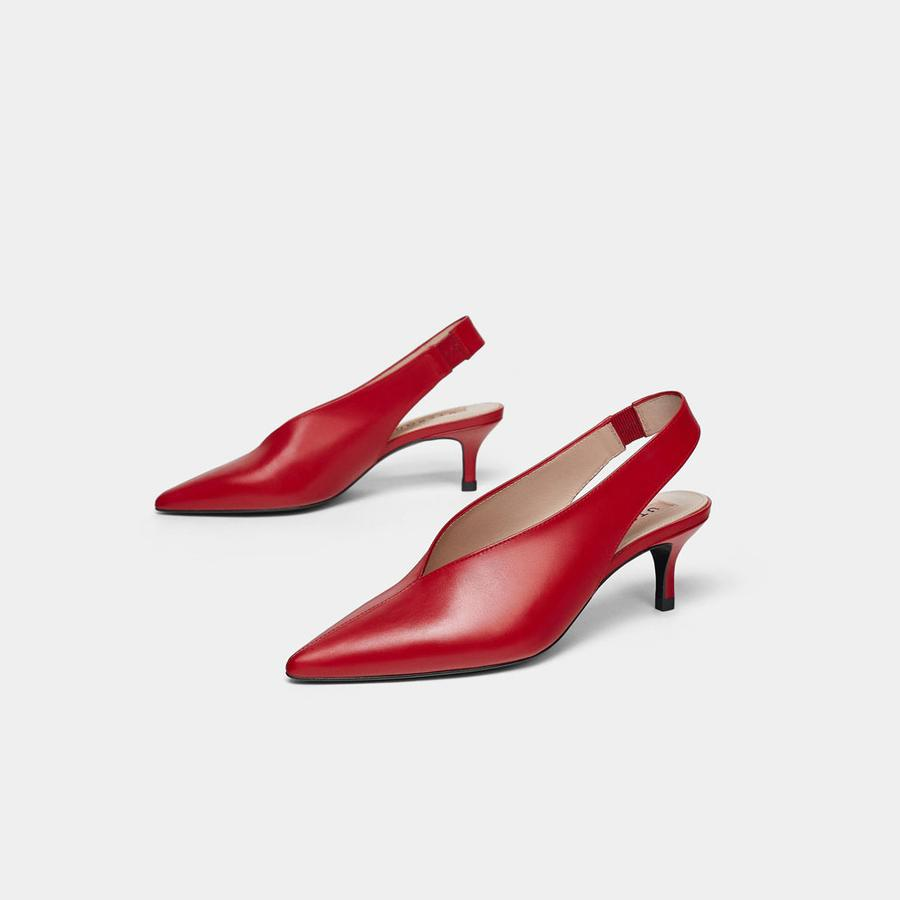 Les chaussures de la rentrée 2018 - Uterqüe Escarpins slingback, Uterqüe