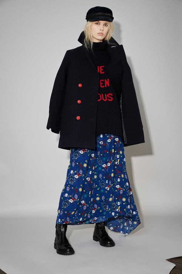 Caban en laine mélangée à boutons métalliques contrastés, Zadig & Voltaire, 495 euros.