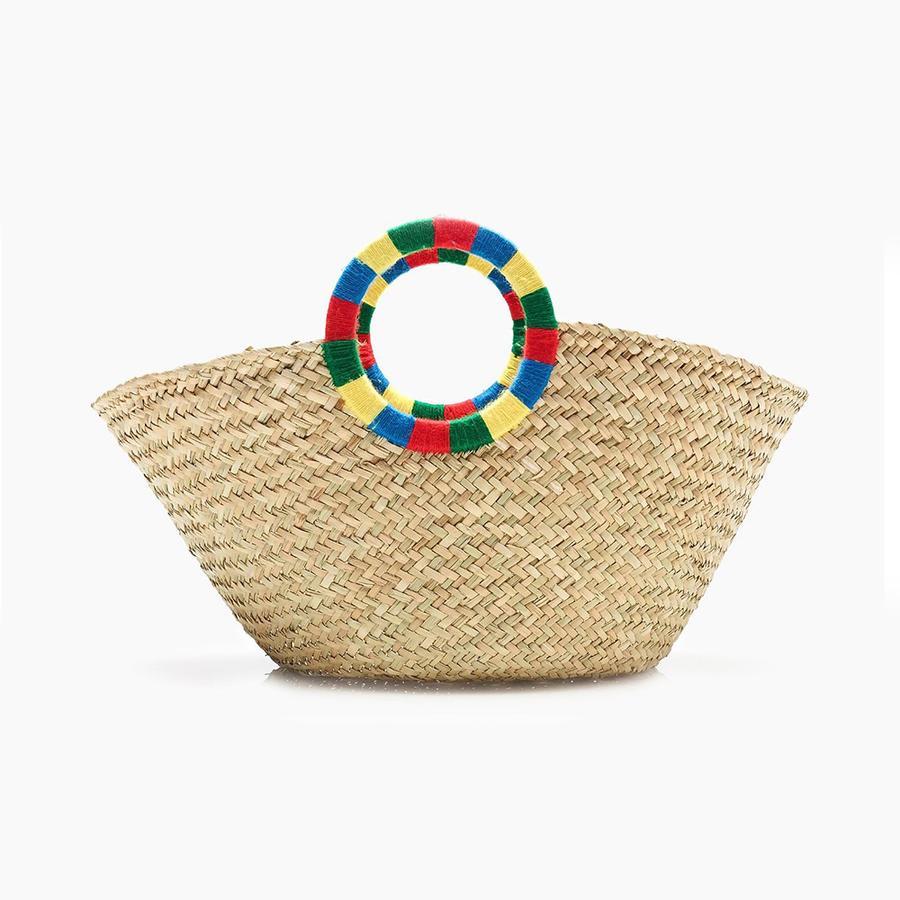 Paniers, sacs de plage... Les indispensables de l'été Sac en raphia, J.Crew, 146 €. Disponible sur jcrew.com.